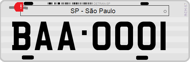 Genera y crea tu propia matricula de Brasil San Paulo vehiculo privado gratis / Generate your own Brazilian private car SP Sao Paulo license plate for free