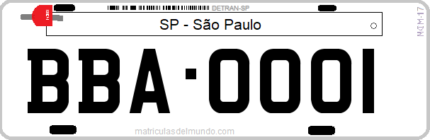 Genera y crea tu propia matricula de Brasil San Paulo vehiculo oficial gratis / Generate your own Brazilian oficial car SP Sao Paulo license plate for free