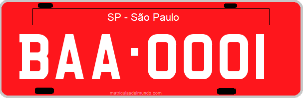 Genera y crea tu propia matricula de Brasil San Paulo buses,taxis y alquiler gratis / Generate your own Brazilian buses, taxis and hire cars SP Sao Paulo license plate for free