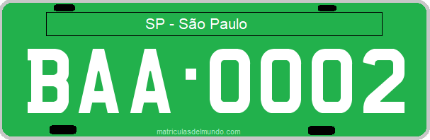 Genera y crea tu propia matricula de Brasil en pruebas gratis / Generate your own Brazilian on test green license plate for free