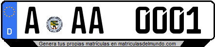 Genera tu propia matricula de Alemania de una letra / Generate your own license plate from Germany with one letter