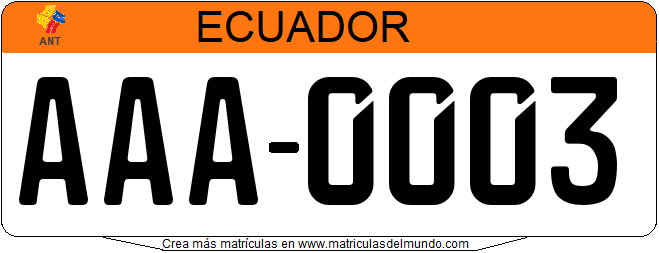 Genera tu propia matricula ecuatoriana ecuador gratis / Generate your own ecuador license plate from public services for free