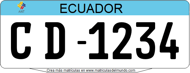 Genera tu propia matricula ecuatoriana ecuador diplomatico consular tecnico gratis / Generate your own ecuador license plate from diplomatic consular for free