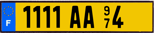 Genera y crea tu propia matricula de Francia del sistema antiguo AMARILLO(FNI) gratis / Generate your own french license plate from normal OLD YELLOW system for free