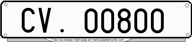 Genera y crea tu propia matricula del Vaticano del sistema normal cv gratis / Generate your own italian license plate from  normal vatican system without eurobande for free