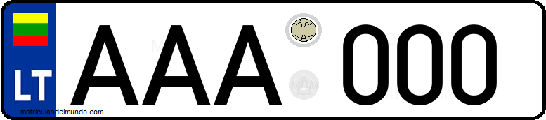 Genera y crea tu propia matricula de Lituania normal del sistema viejo/ Generate your own lithuanian old license plate image
