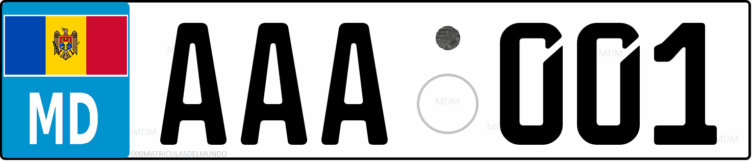Genera y crea tu propia matricula de Moldavia normal trasera gratis / Generate your own moldavian normal current license plate for free