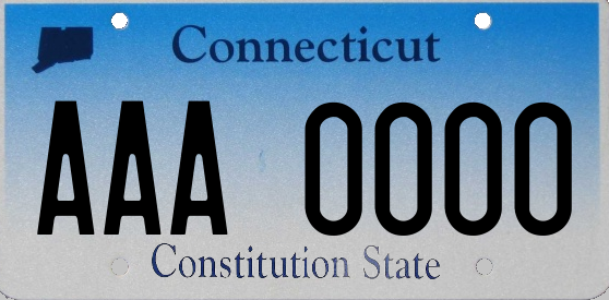 Genera y crea tu propia matricula de CONECTICA CONNECTICUT de sistema normal gratis imagen dibujo estados unidos/ Generate your own United States CONNECTICUT fake free license plate image from normal system for free