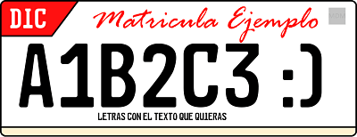 Genera y crea tu propia matricula recreada irreal totalmente personalizable / Create license plate irreal personalizable for free with text