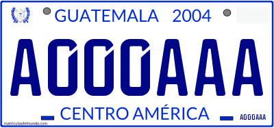 Genera y crea tu propia matricula de Guatemala del sistema normal./ Generate your own personalized Guatemala license plate free gratis