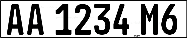 Genera y crea tu propia matricula de República de Mali actual para coche miniatura diescast/ Generate free image similar to Mali´s Republic license plate for your diecasts.