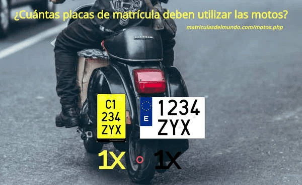 Matriculas de motos