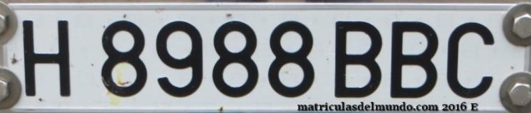 Matrícula de coche histórica de España