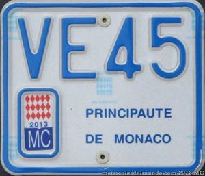 Matrícula de motocicleta eléctrica de Mónaco