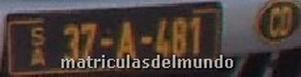 Antigua matrícula diplomatica bosnia