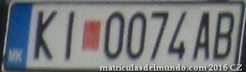 Matricula de macedonia KICEVO LICENSE PLATE 1
