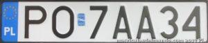 Matrícula Poznan nueva
