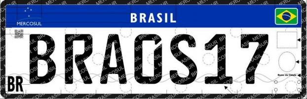 Nueva matrícula oficial brasileña (desde septiembre 2018)