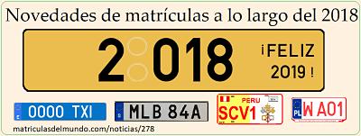 Cambios sobre matrículas en 2018 y 2019