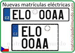 Nueva matrícula eléctrica checa