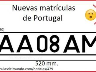 Novo sistema de matrícula de veículos em Portugal