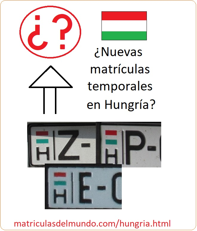 Noticia sobre cómo serán las nuevas matrículas húngaras