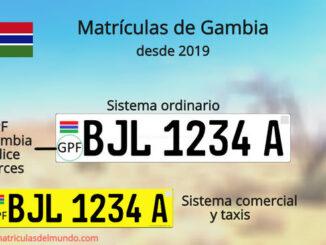 Nuevas matrículas de Gambia explicadas