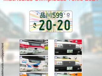 Nuevas matrículas coches olimpiadas Tokio