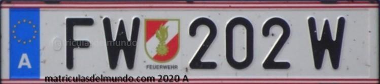 Matrícula de coche de bomberos de Austria