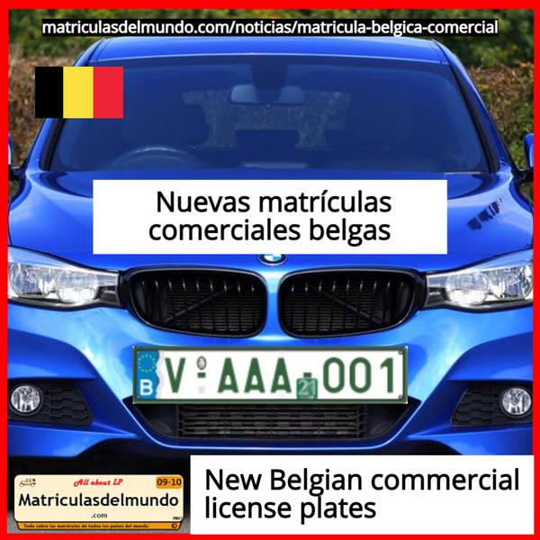 Nueva matrícula comercial de coche de belgica