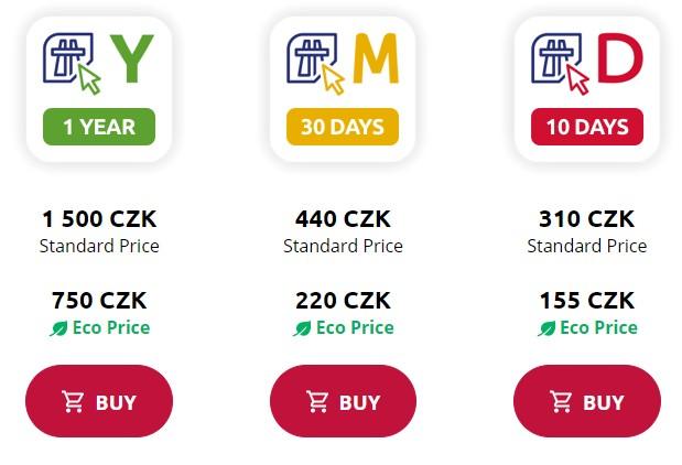 Pegatinas de pago de Chequia