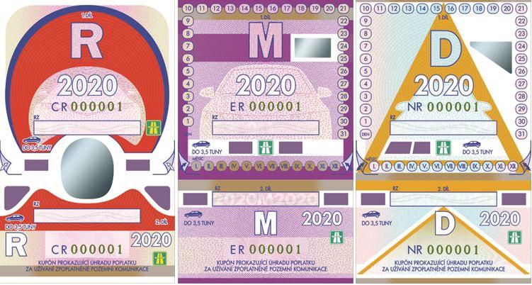 pegatinas de 2020 para autopistas checas