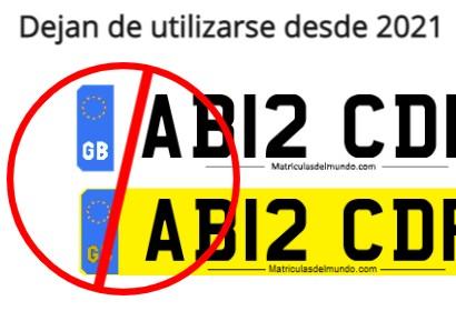 Nuevas placas de matrícula británicas