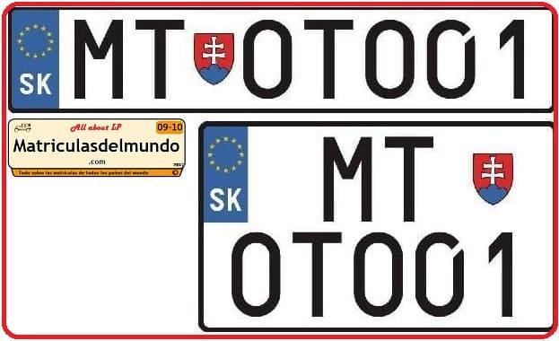 Nuevas matrículas de Eslovaquia presentadas por un diputado