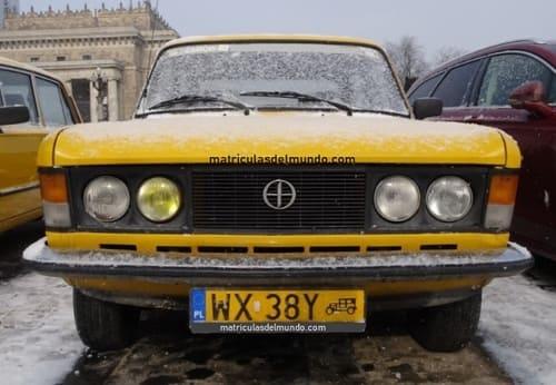 Matrícula histórica Polonia Fiat 125p