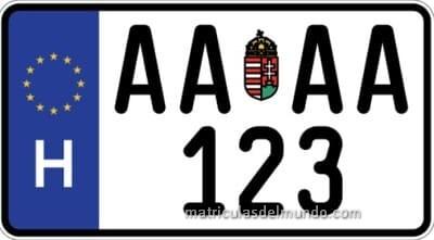 Nueva matrícula de moto de Hungría