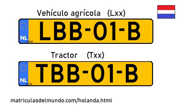 Nuevas matrículas de tractores y agrícolas en Holanda
