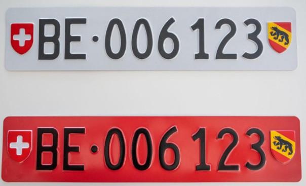 Matrícula para portabicicletas de Suiza