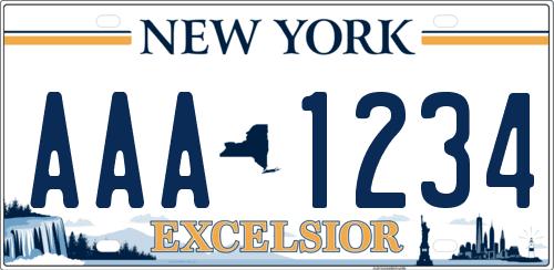 Nueva matrícula de Nueva York Excelsior
