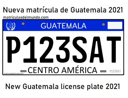 Nuevas matrículas de Guatemala en 2021